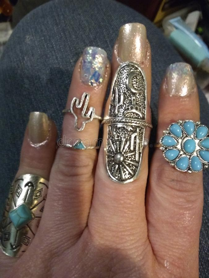 Rings stock image