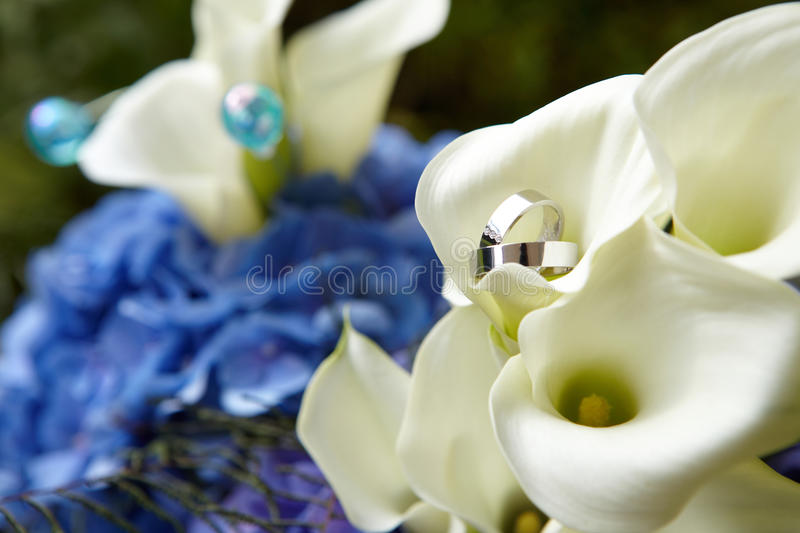 Download Rings on bouquet stock image. Image of celebration, forever - 12784189