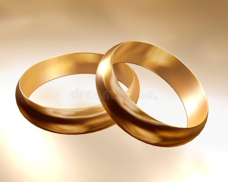 Rings gold royalty free illustration