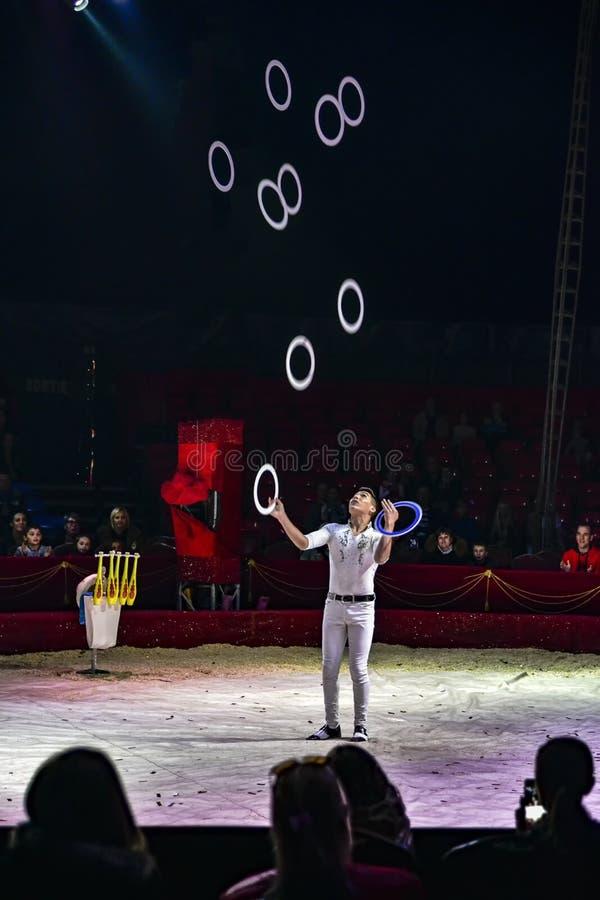 Rings juggler royalty free stock photo