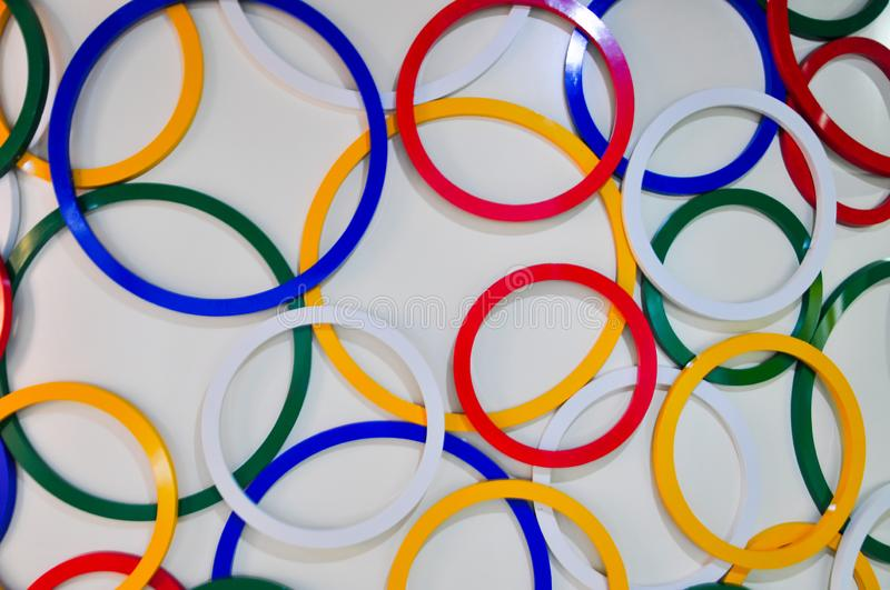 Rings pattern. Many diffrent color Rings pattern stock photo