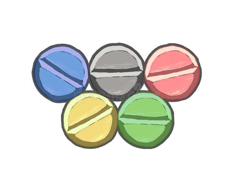 Rings pill doping vector illustration