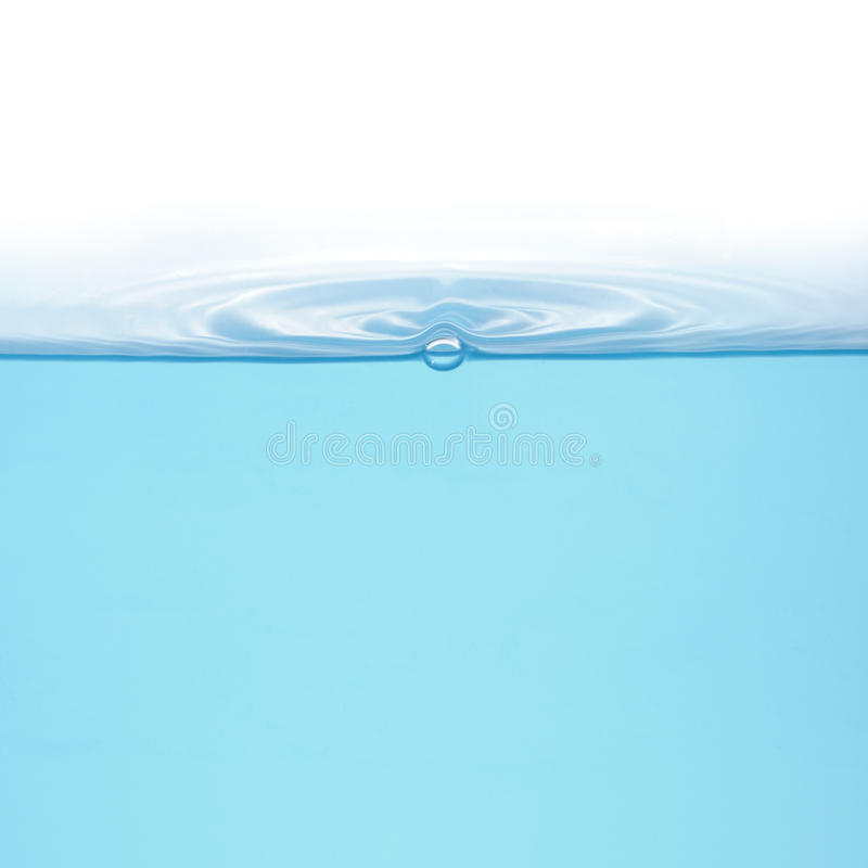Rings on water isolated royalty free stock images