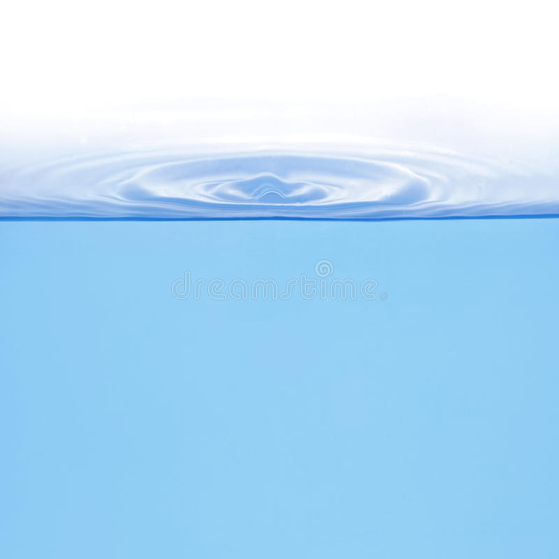 Rings on water isolated stock photography