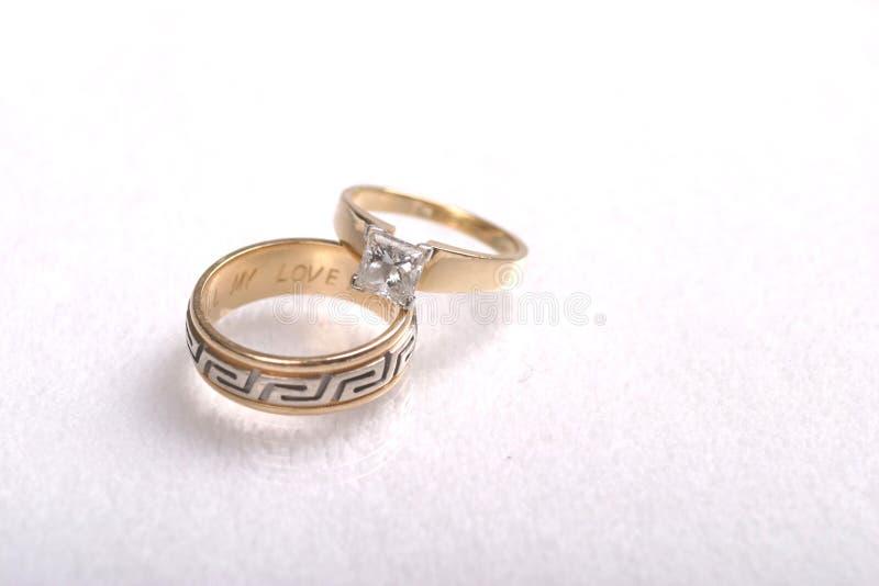 rings1婚礼 免版税库存照片