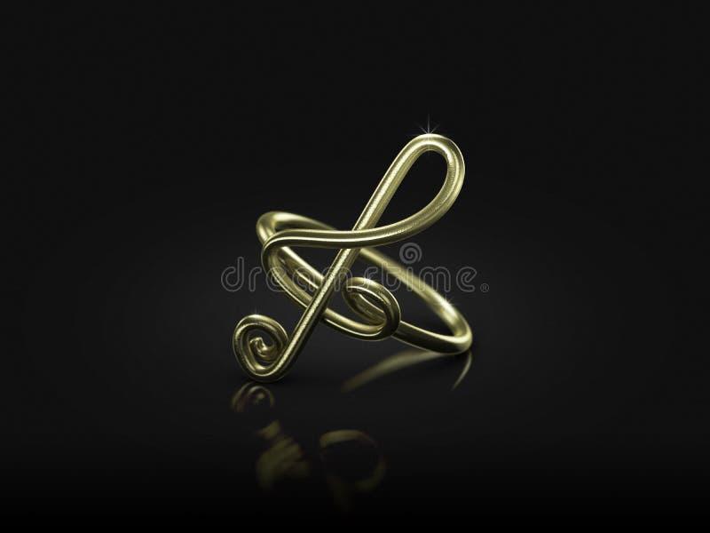 Ringverpflichtung der musikalischen Anmerkung vektor abbildung