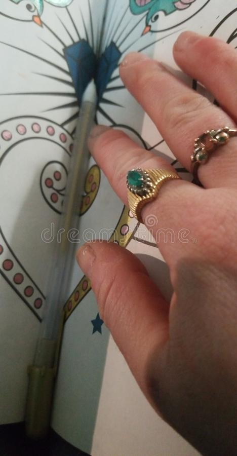 Ringvinger stock afbeeldingen