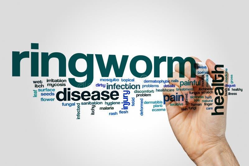 Ringworm słowa chmury pojęcie zdjęcia royalty free