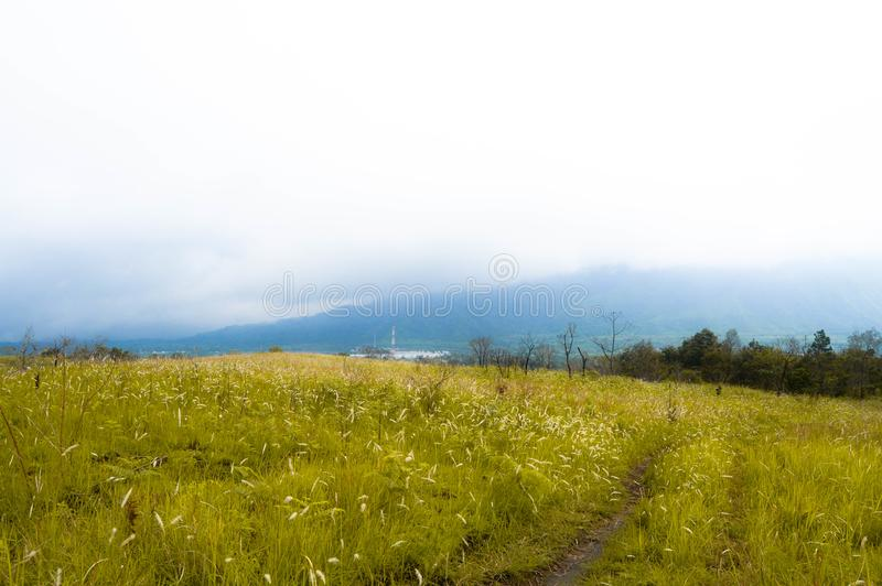 Rinjani山`早晨视图` 免版税图库摄影