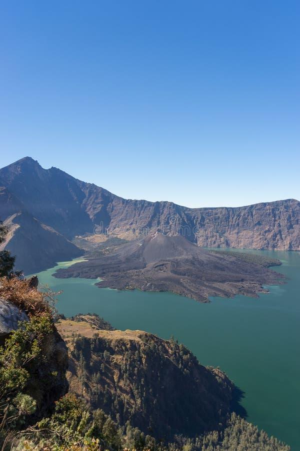 Rinjani火山山,龙目岛 免版税库存图片