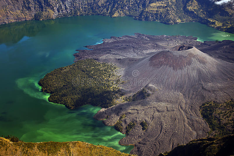 Rinjani Mount Lombok Indonesia royalty free stock photos