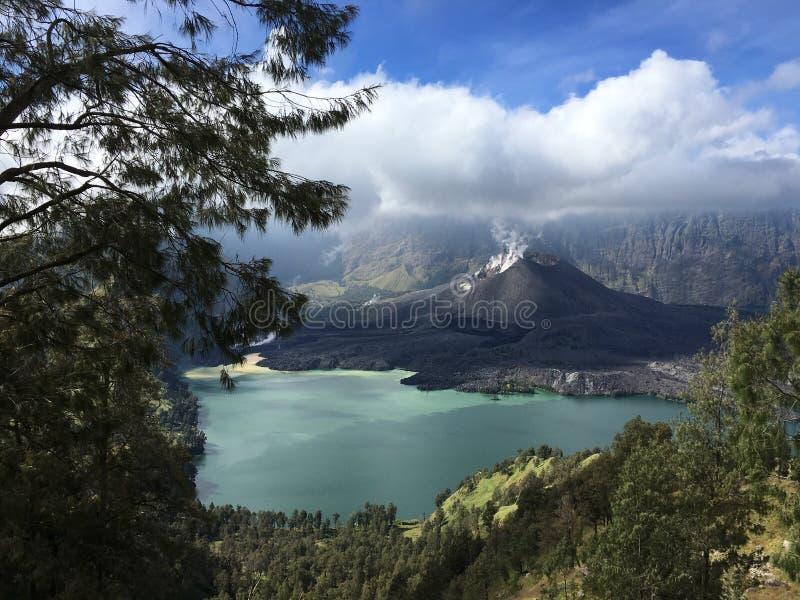 Rinjani Mountain royalty free stock photography