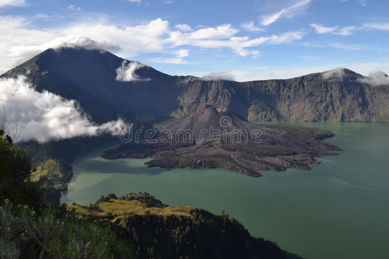 Rinjaniberg Lombok royalty-vrije stock afbeelding