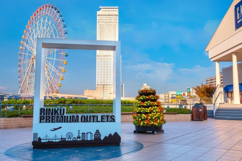 Rinku högvärdiga uttag i Osaka, Japan royaltyfri fotografi