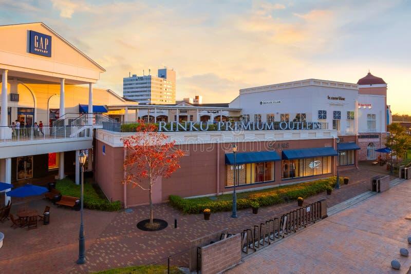 Rinku högvärdiga uttag i Osaka, Japan arkivbild