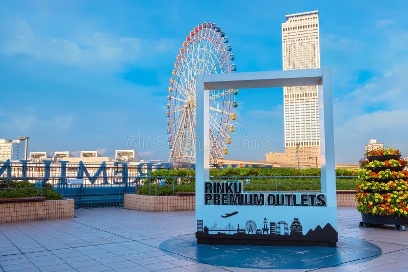 Rinku högvärdiga uttag i Osaka, Japan royaltyfria foton