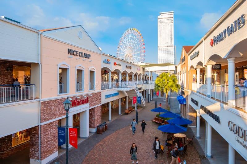 Rinku högvärdiga uttag i Osaka, Japan royaltyfri foto