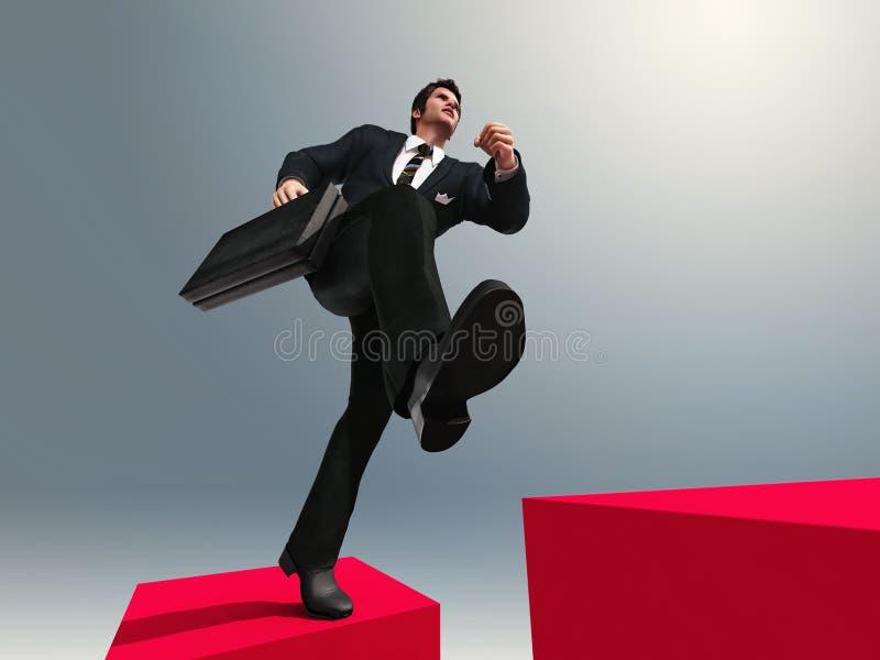 Rinnande övre för man trappan vektor illustrationer