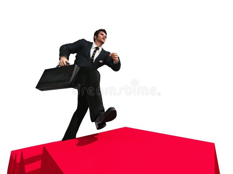 Rinnande övre för man trappan stock illustrationer