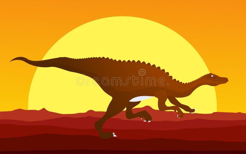 Rinnande dinosaur royaltyfri illustrationer