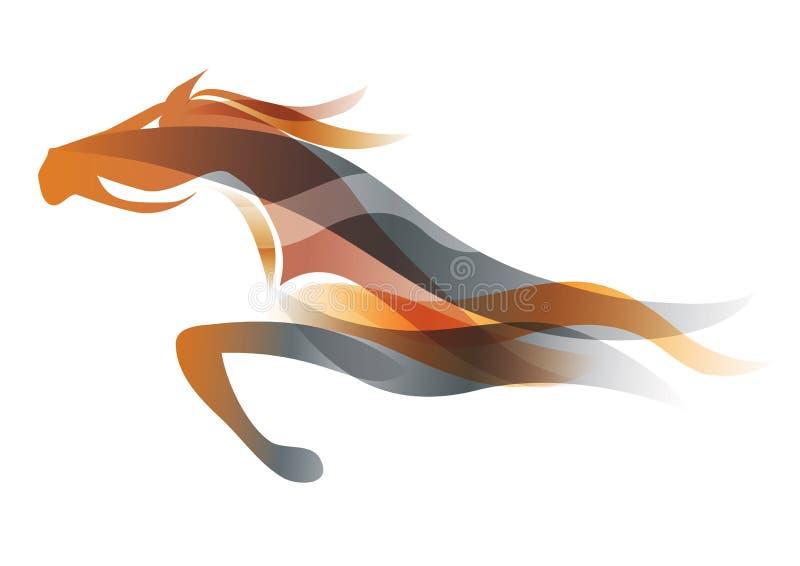 Rinnande häst vektor illustrationer