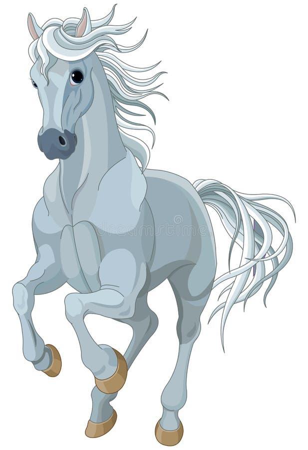Rinnande häst royaltyfri illustrationer