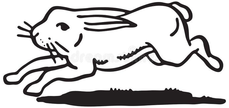 Rinnande kanin royaltyfri illustrationer