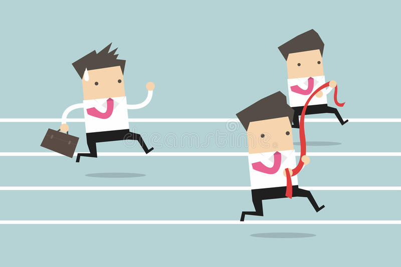 Rinnande konkurrens för affärsman vektor illustrationer