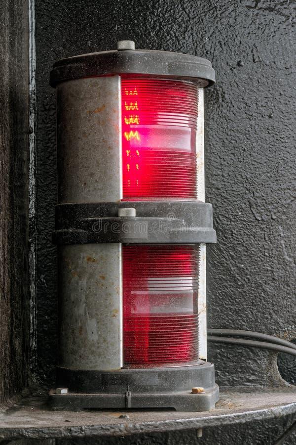 Rinnande ljus för navigering fotografering för bildbyråer