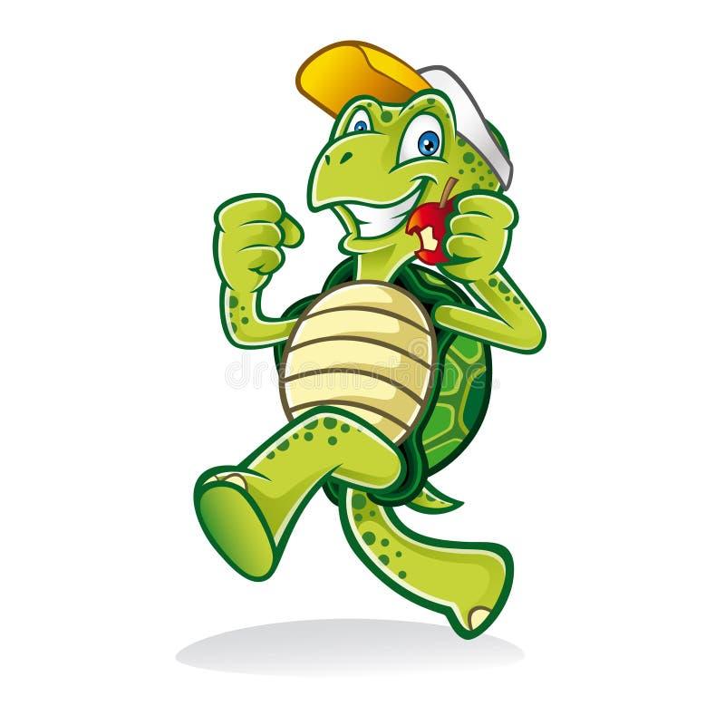 Rinnande sköldpadda stock illustrationer