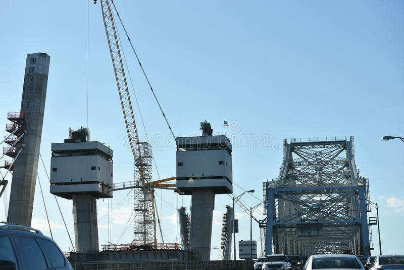 Rinnovamento del ponte di goethals di New York della Staten Island fotografia stock libera da diritti