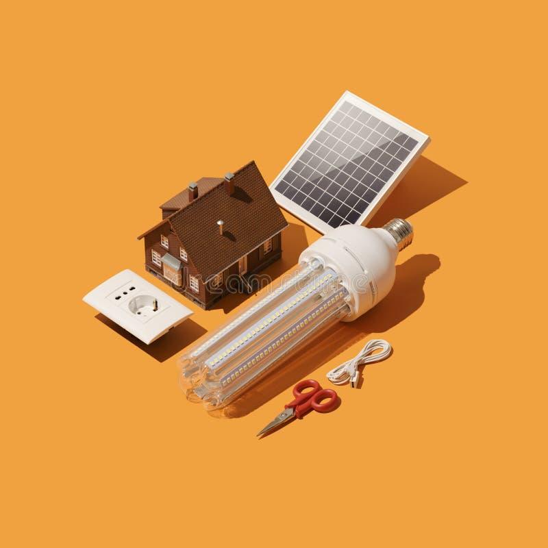 Rinnovamento domestico e sistema elettrico illustrazione vettoriale