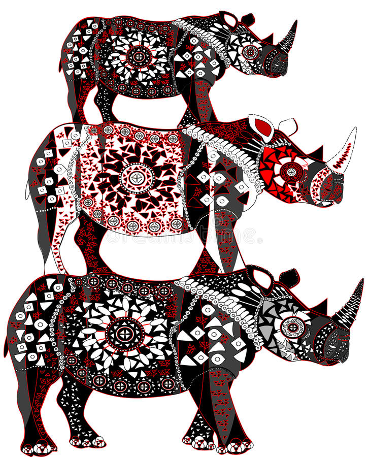 Rinoceronte ilustração stock