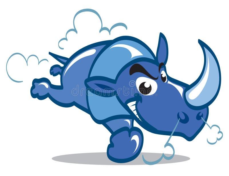 Rinoceronte blu royalty illustrazione gratis