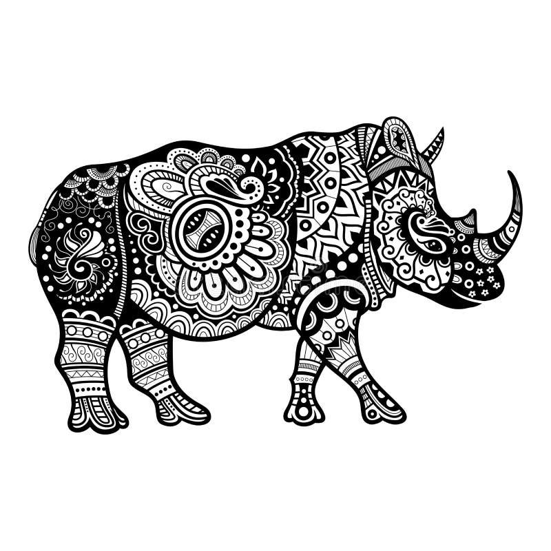 Rinoceronte decorativo tribal del vector libre illustration
