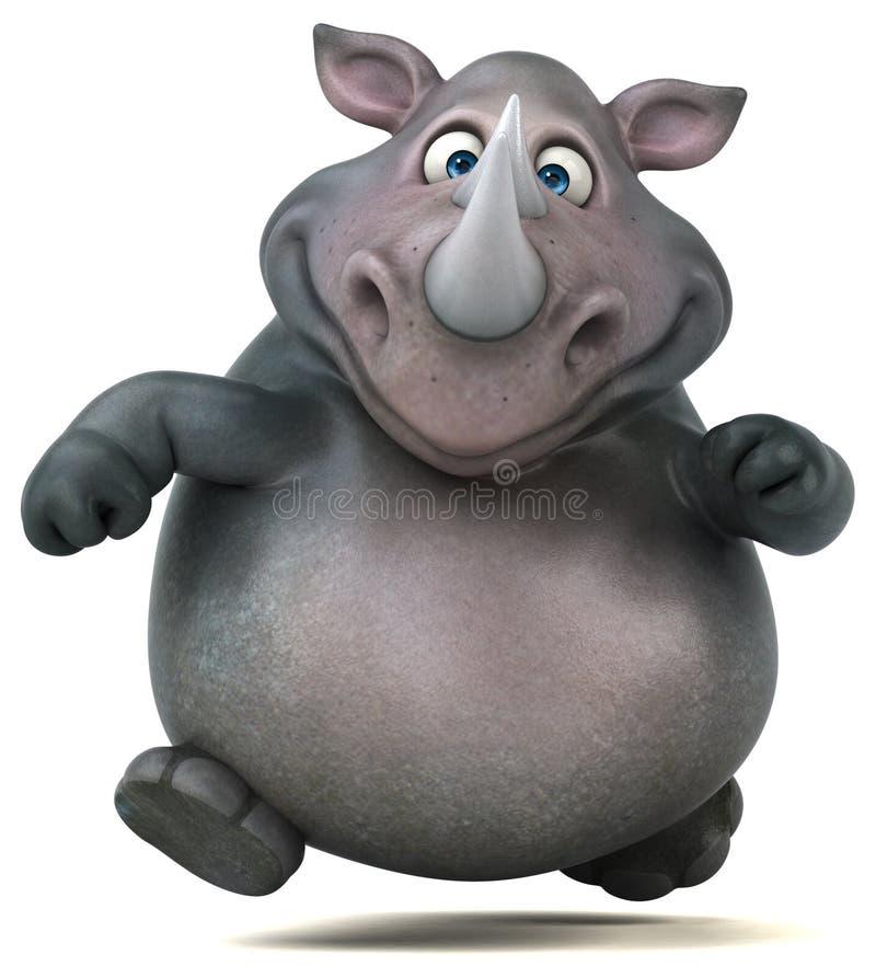 Rinoceronte do divertimento - ilustração 3D ilustração do vetor