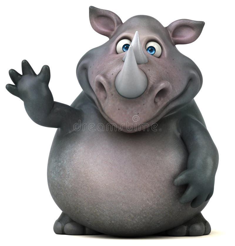 Rinoceronte do divertimento - ilustração 3D ilustração stock