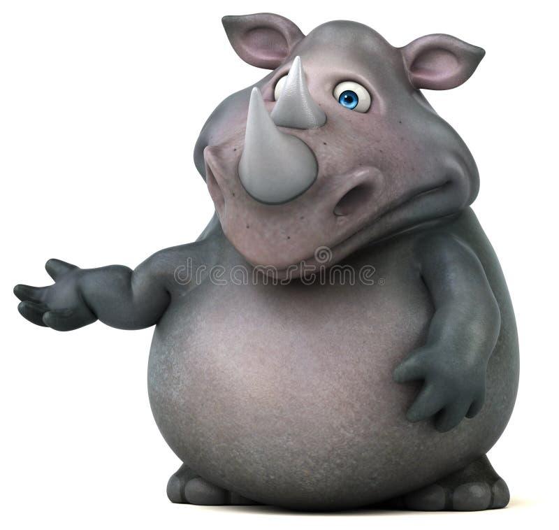 Rinoceronte do divertimento - ilustração 3D ilustração royalty free