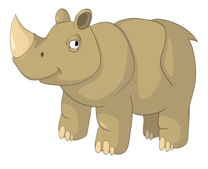 Rinoceronte do personagem de banda desenhada ilustração do vetor