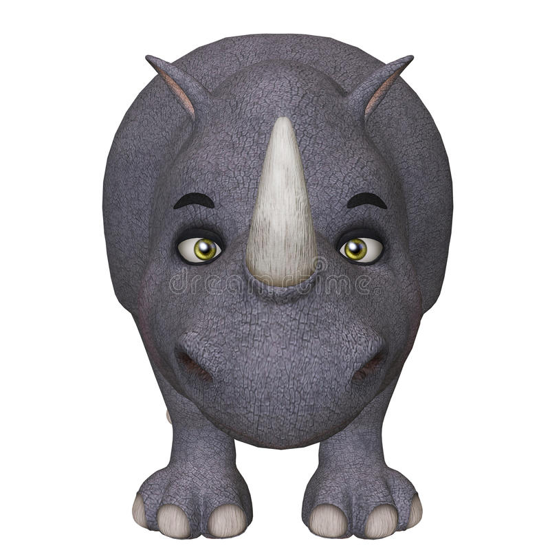 rinoceronte dos desenhos animados 3d ilustração stock