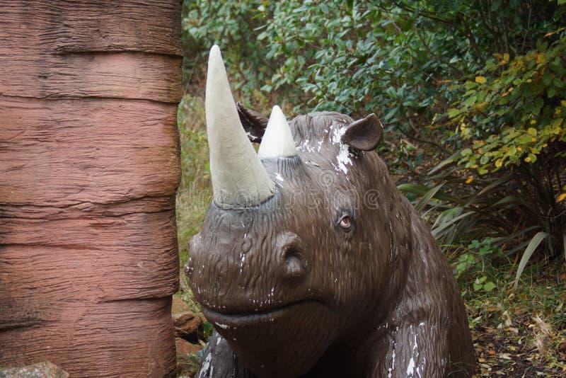 Rinoceronte felpudo - antiquitatis de Coelodonta fotografia de stock