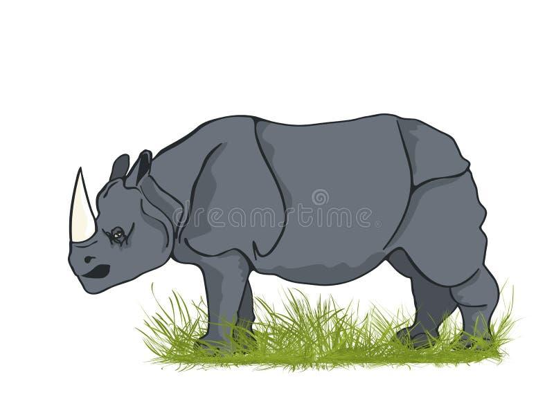 Rinoceronte grande ilustración del vector