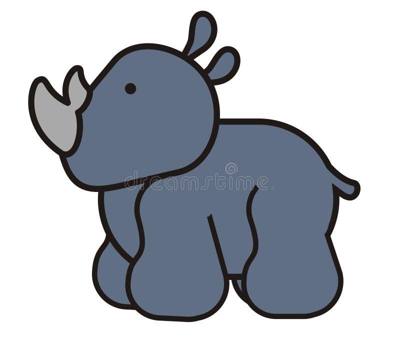 Rinoceronte sveglio del bambino royalty illustrazione gratis