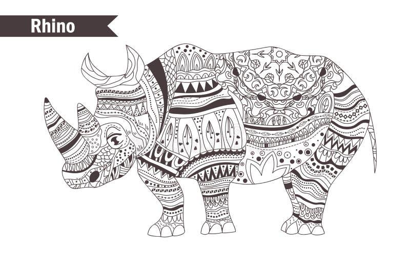 rinoceros Vector geïsoleerde illustratie royalty-vrije illustratie