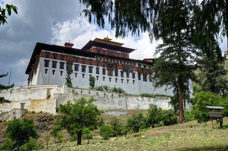 Rinpung Dzong在不丹 免版税库存照片
