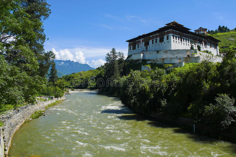 Rinpung Dzong in Bhutan. Photo taken on: August 15th, 2015 royalty free stock photo