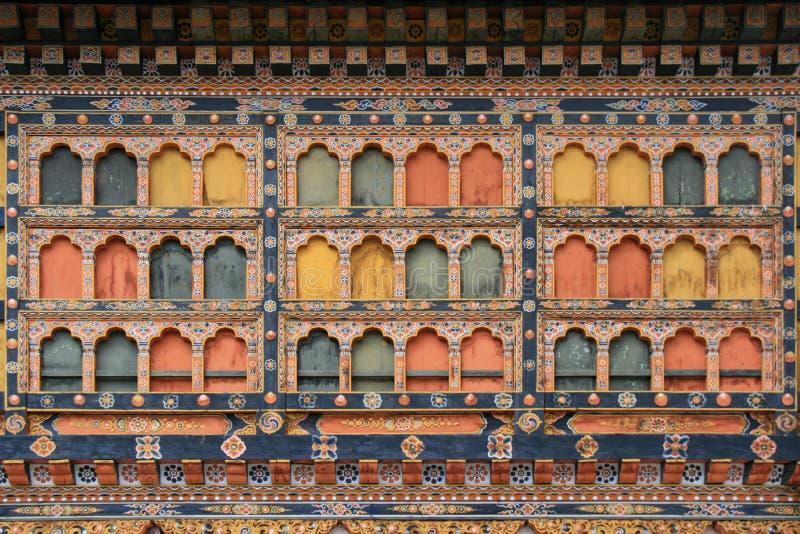 Rinpung Dzong - Paro - Butão imagem de stock