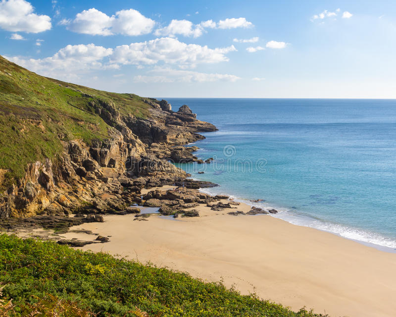 Rinsey plaża Cornwall Anglia obrazy stock