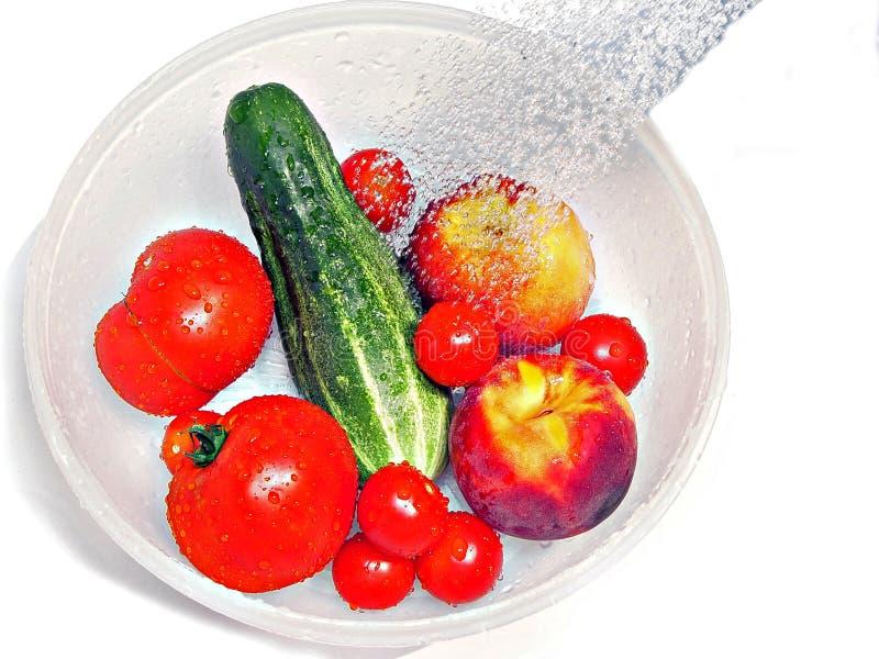 Rinsing Fruit Royalty Free Stock Photos