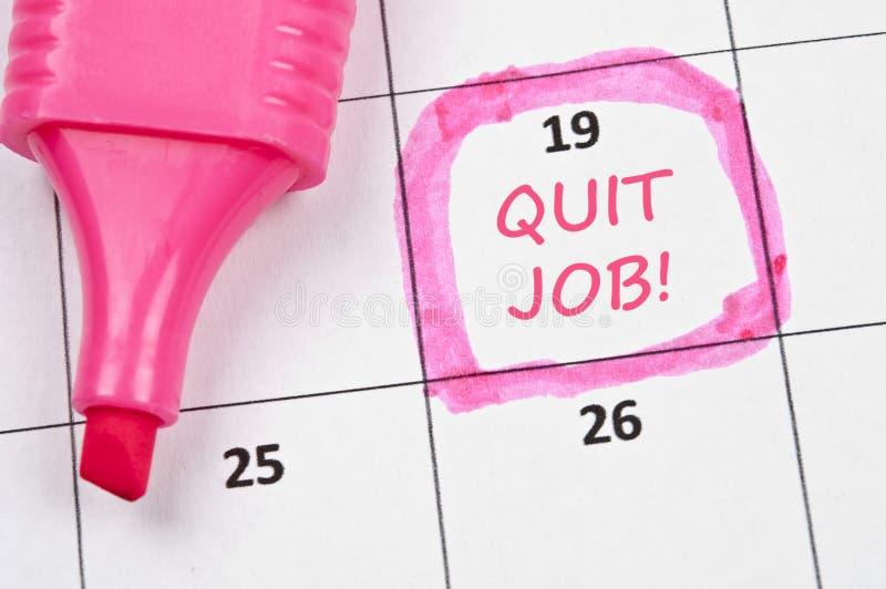Rinunci il contrassegno di job immagine stock